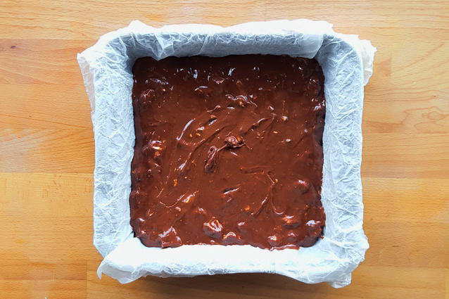 brownies torrone natale teglia