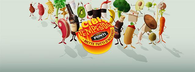 Cover della campagna di Ponti #cibitempostosi.