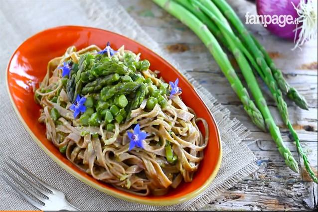 Ricetta carbonara vegetariana: variante con asparagi