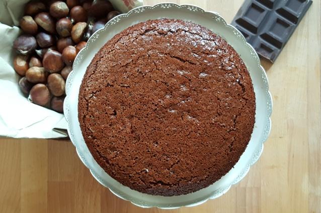 torta castagne cioccolato