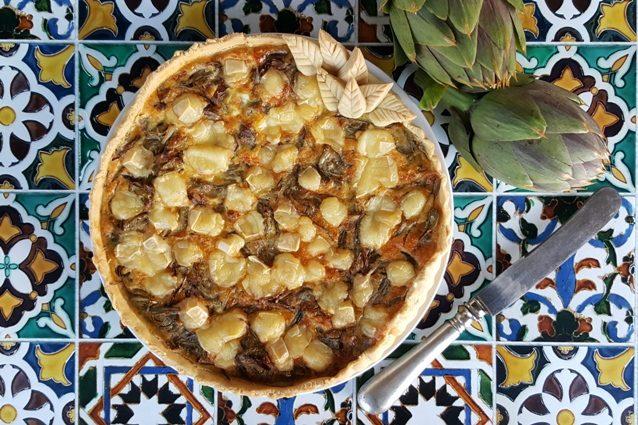 Torta salata ai carciofi: la ricetta per farla friabile