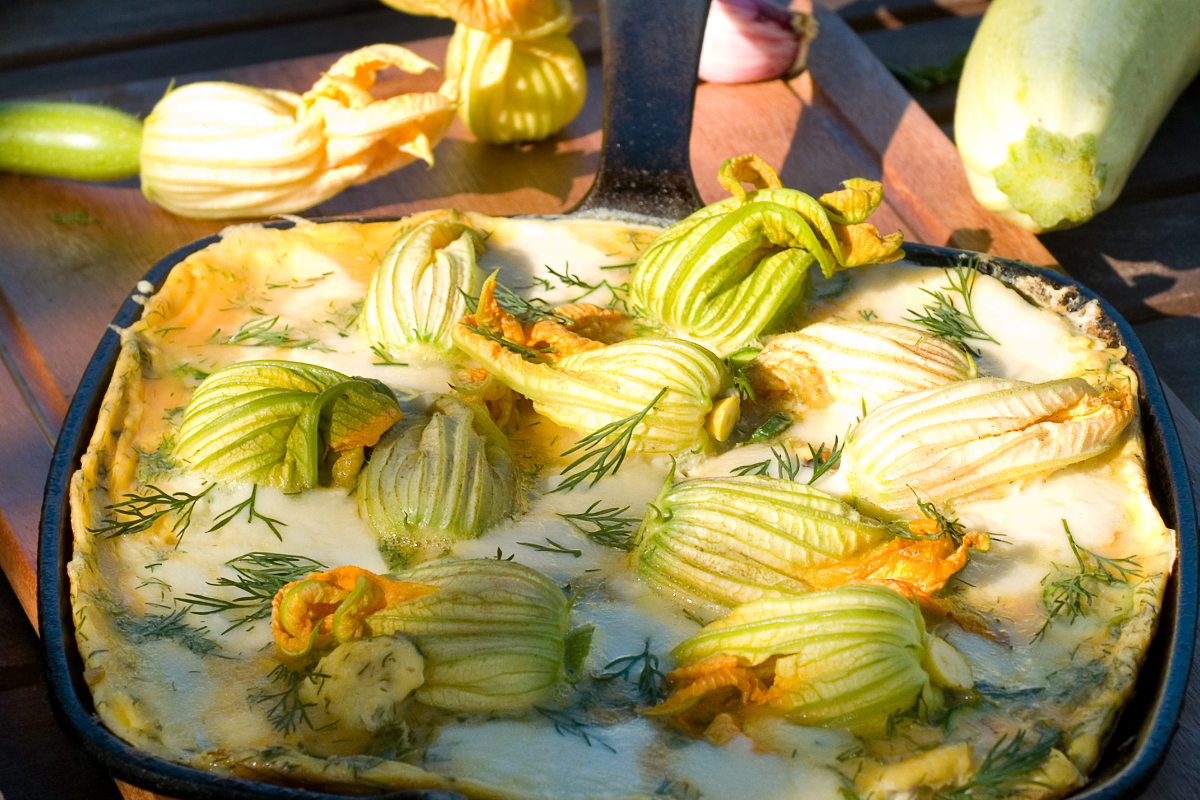 frittata di fiori di zucca
