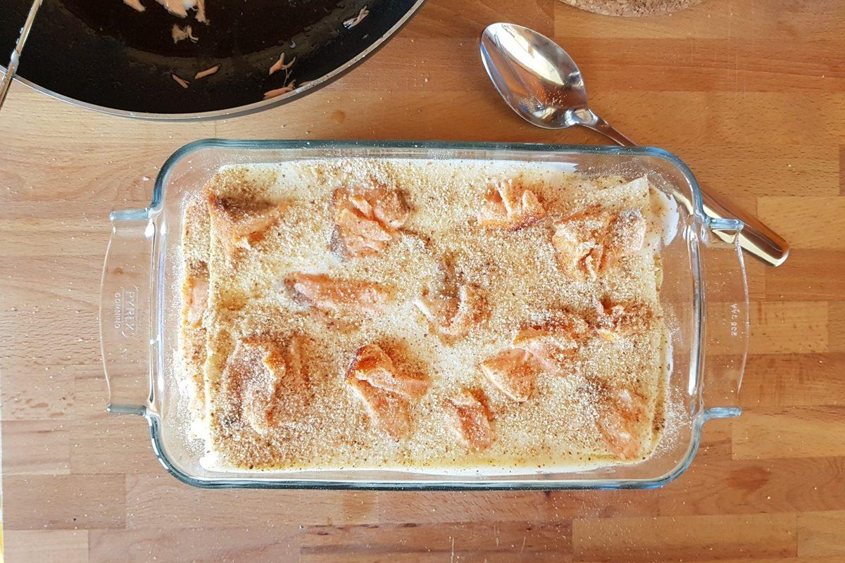 lasagne salmone gratinare