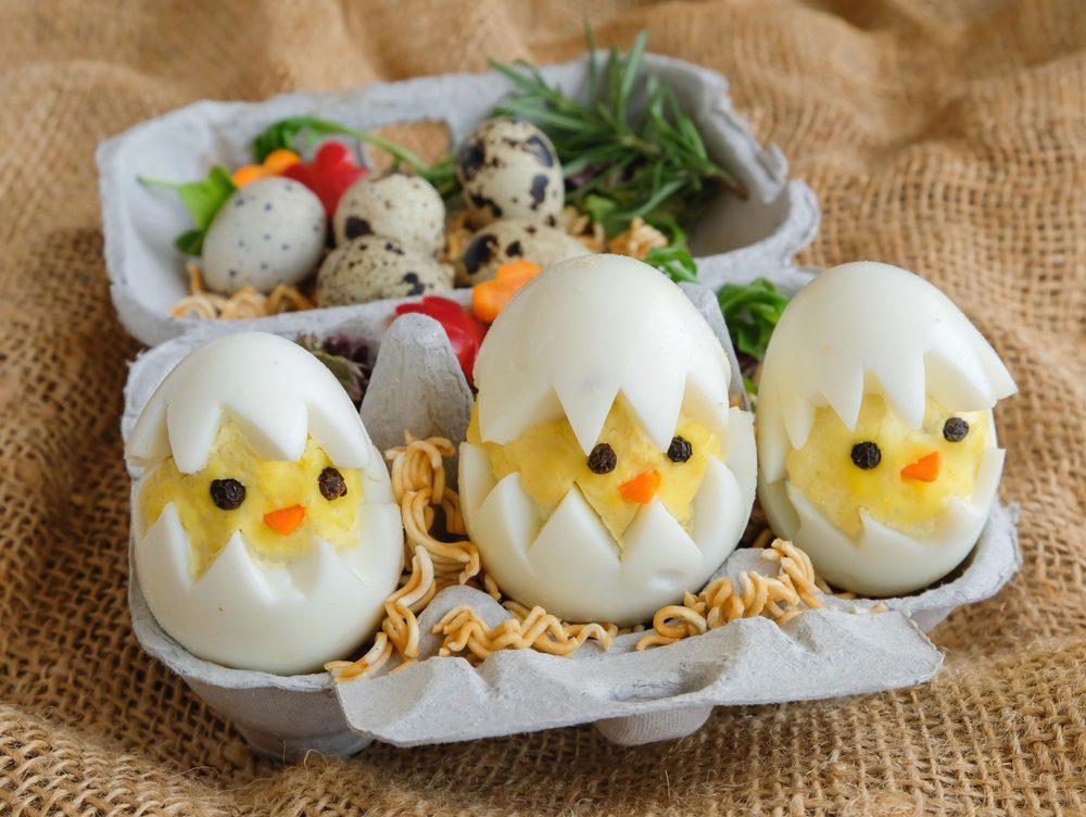 Uova sode a forma di pulcino: la ricetta dei simpatici pulcini pasquali