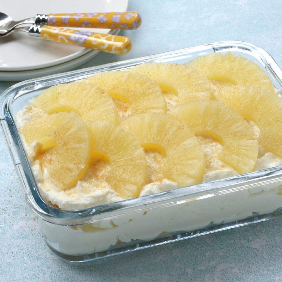 Ricetta Tiramisu Ananas Senza Uova.Tiramisu All Ananas La Ricetta Del Dessert Cremoso E Rinfrescante