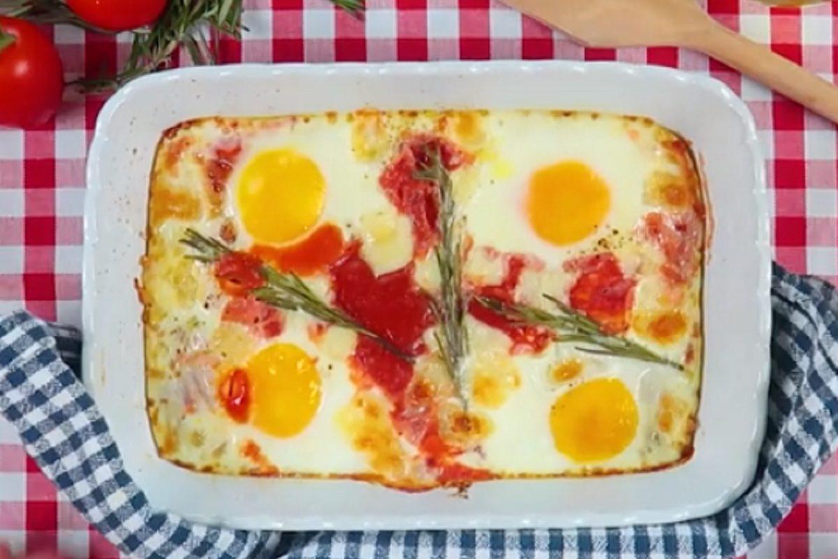 Uova alla contadina: la ricetta del secondo piatto rustico tipico della cucina casalinga