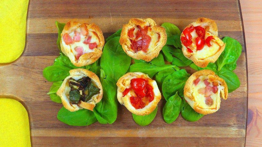 Cestini di pancarrè: la ricetta per prepararli ripieni in poco tempo