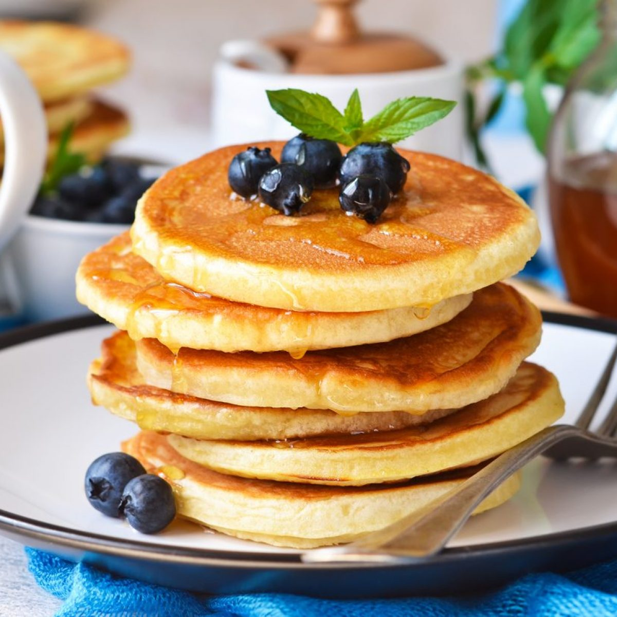 Ricetta Pancake Originali Americani.Pancakes Senza Burro La Ricetta Per Prepararli Soffici E Leggeri In Pochi Minuti