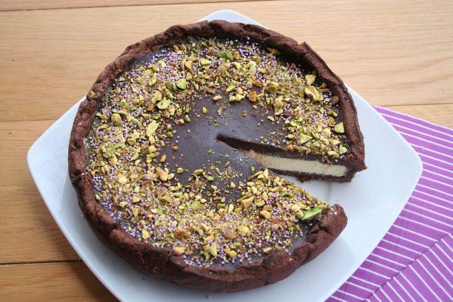 cheesecake al pistacchio e cioccolato fondente ricetta