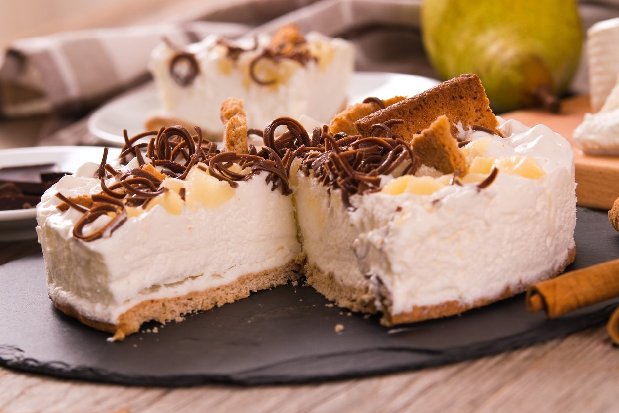 Cheesecake ricotta e pere: la ricetta senza cottura