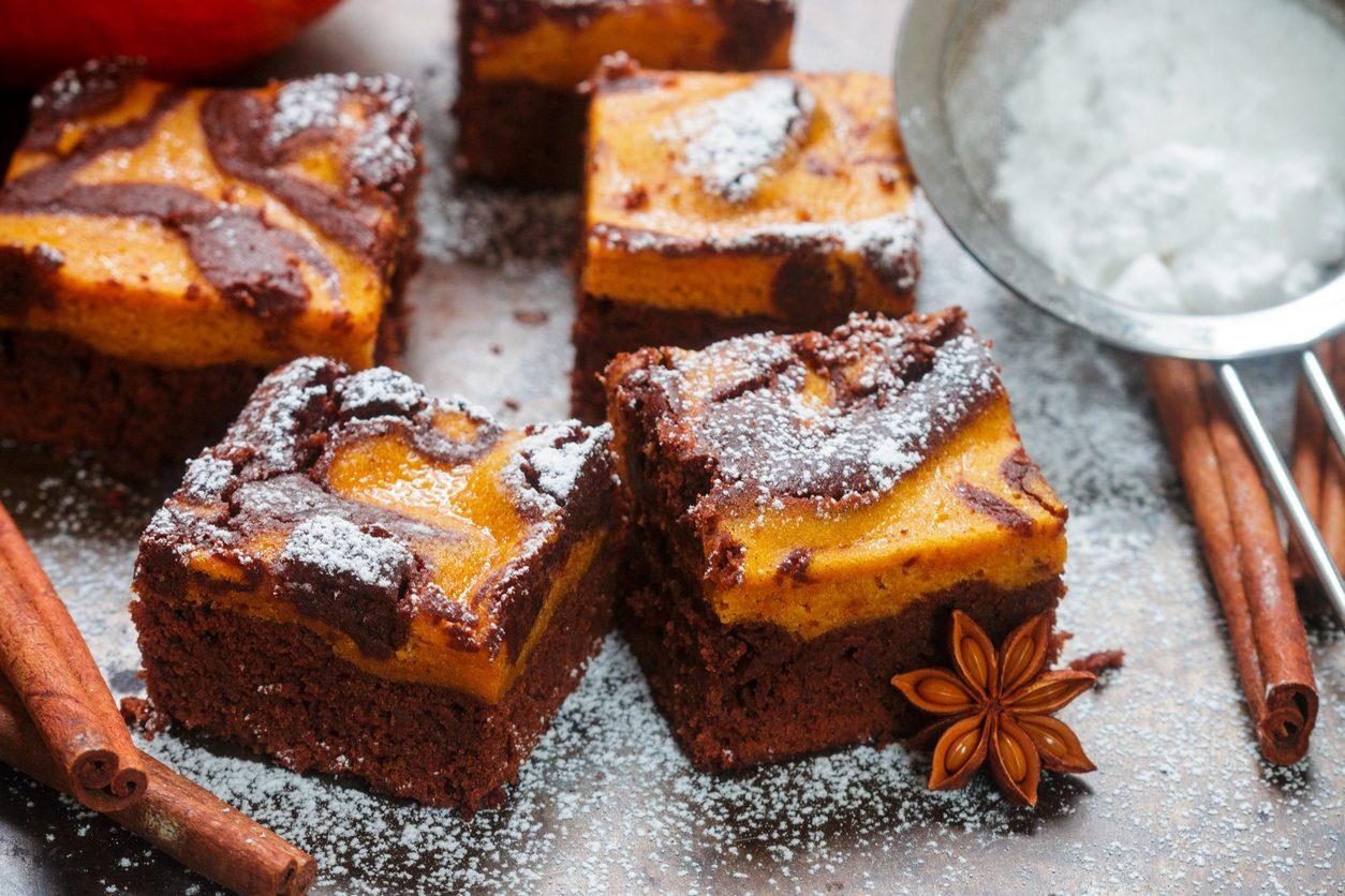 Brownies alla zucca: la ricetta dei dolcetti morbidi e delicati