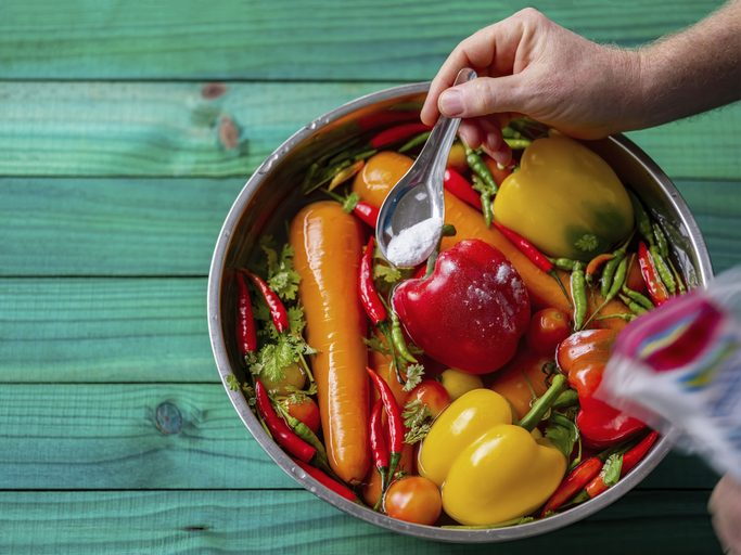 usi del bicarbonato, lavare le verdure