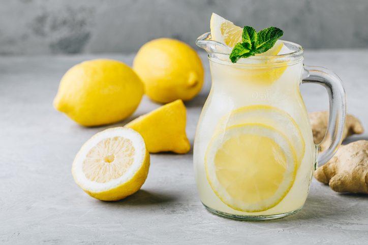 usi del bicarbonato, limonata frizzante