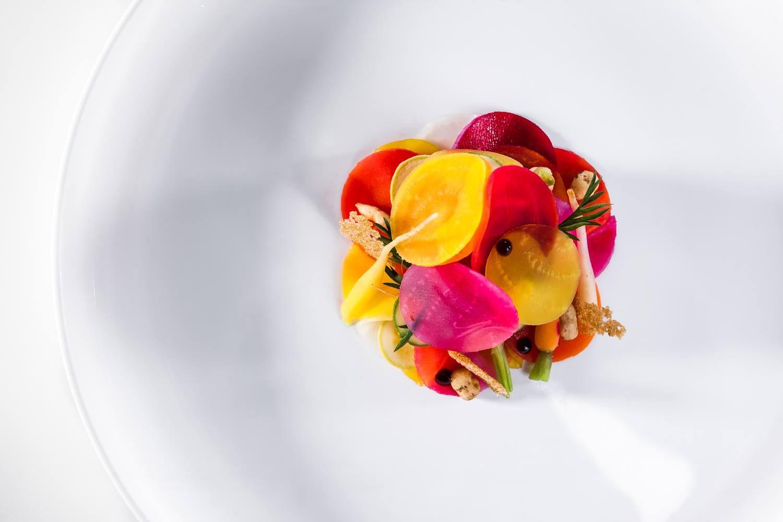 Un piatto dello chef Norbert Niederkofler - St. Hubertus - Photo Credits: Daniel Töchterle
