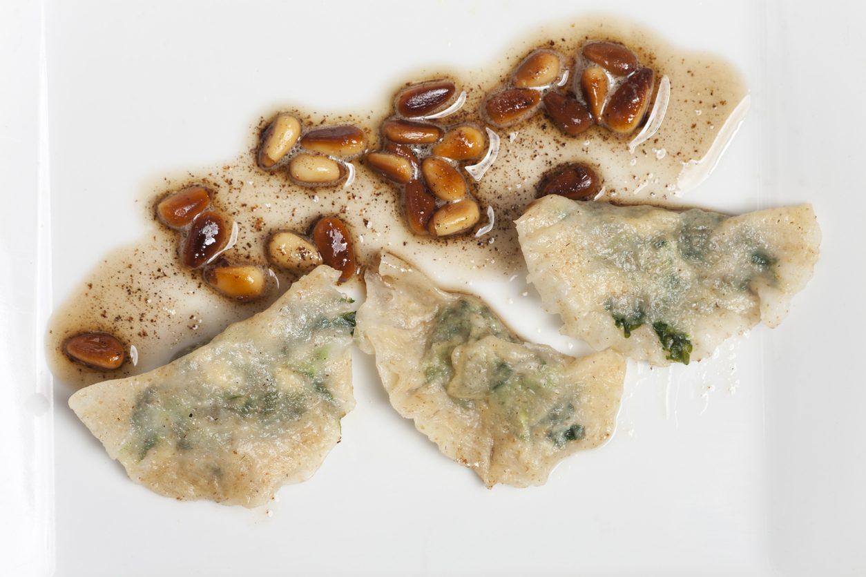 Pasta ripiena senza carne di maiale: Schlutzkrapfen