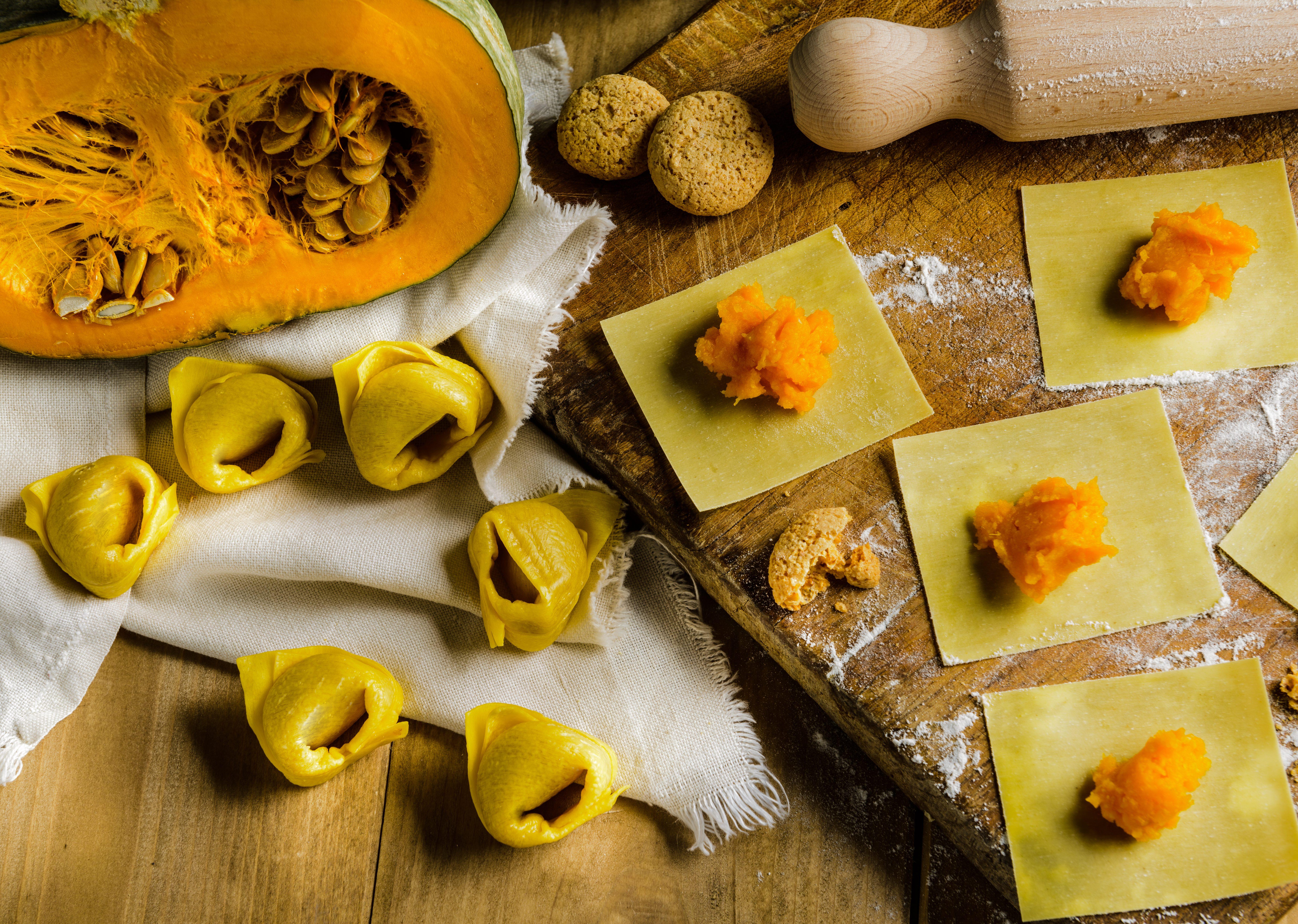 Pasta ripiena senza carne di maiale: tortelli di Mantova