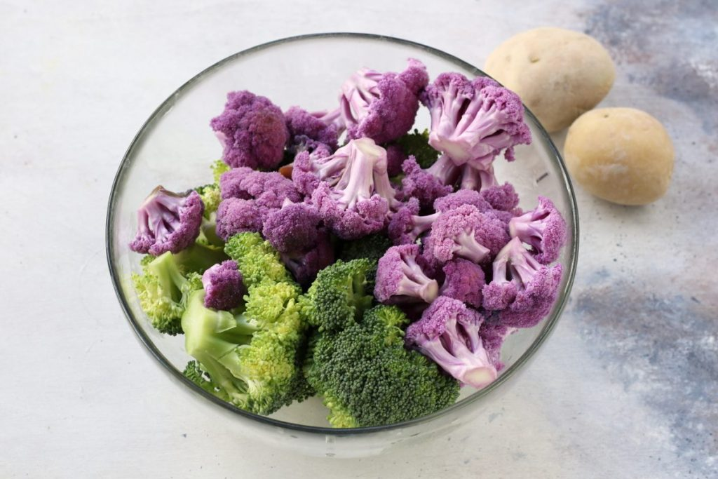 Cavolfiori e broccoletti a vapore