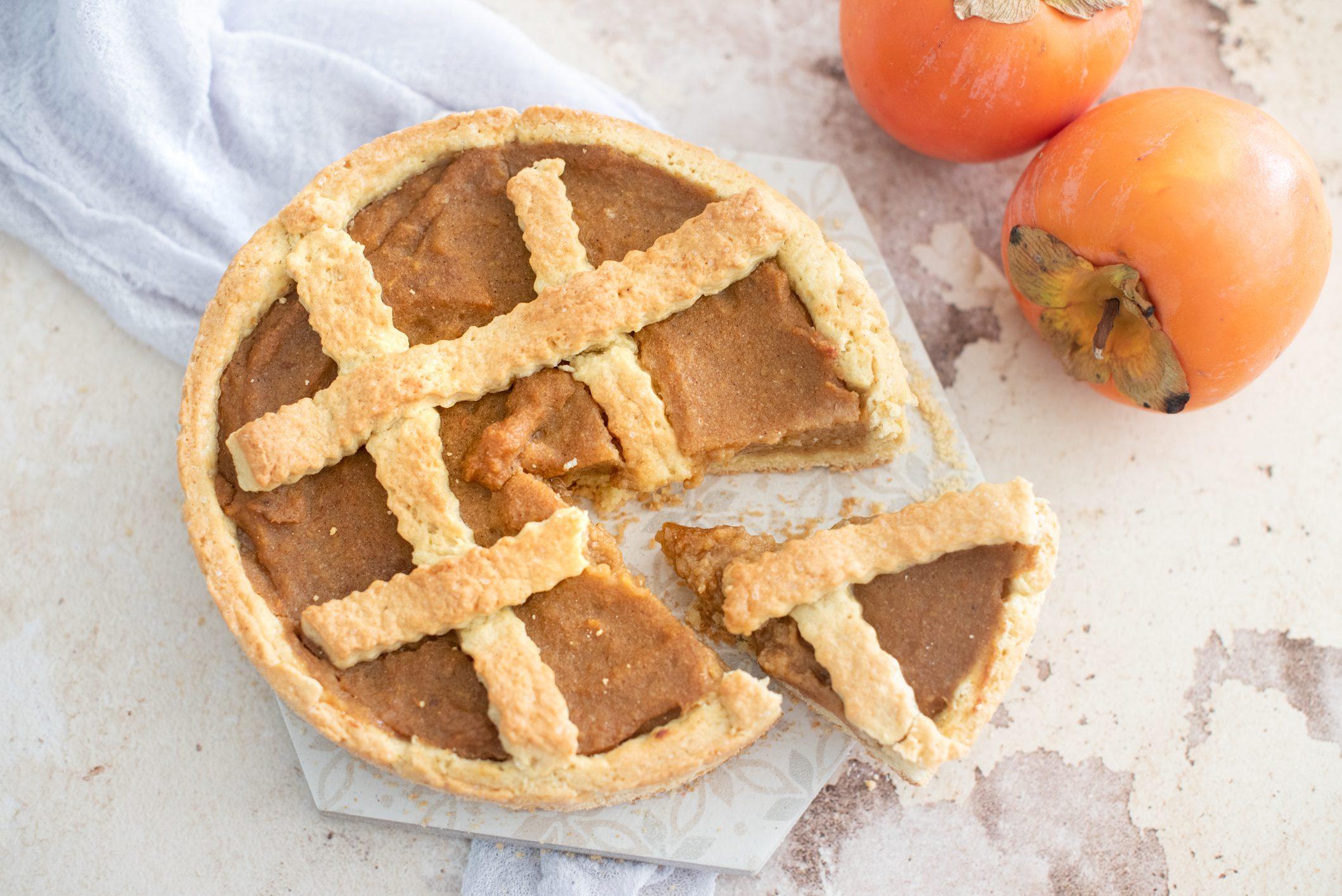 Crostata di cachi: la ricetta del dolce autunnale gustoso e genuino