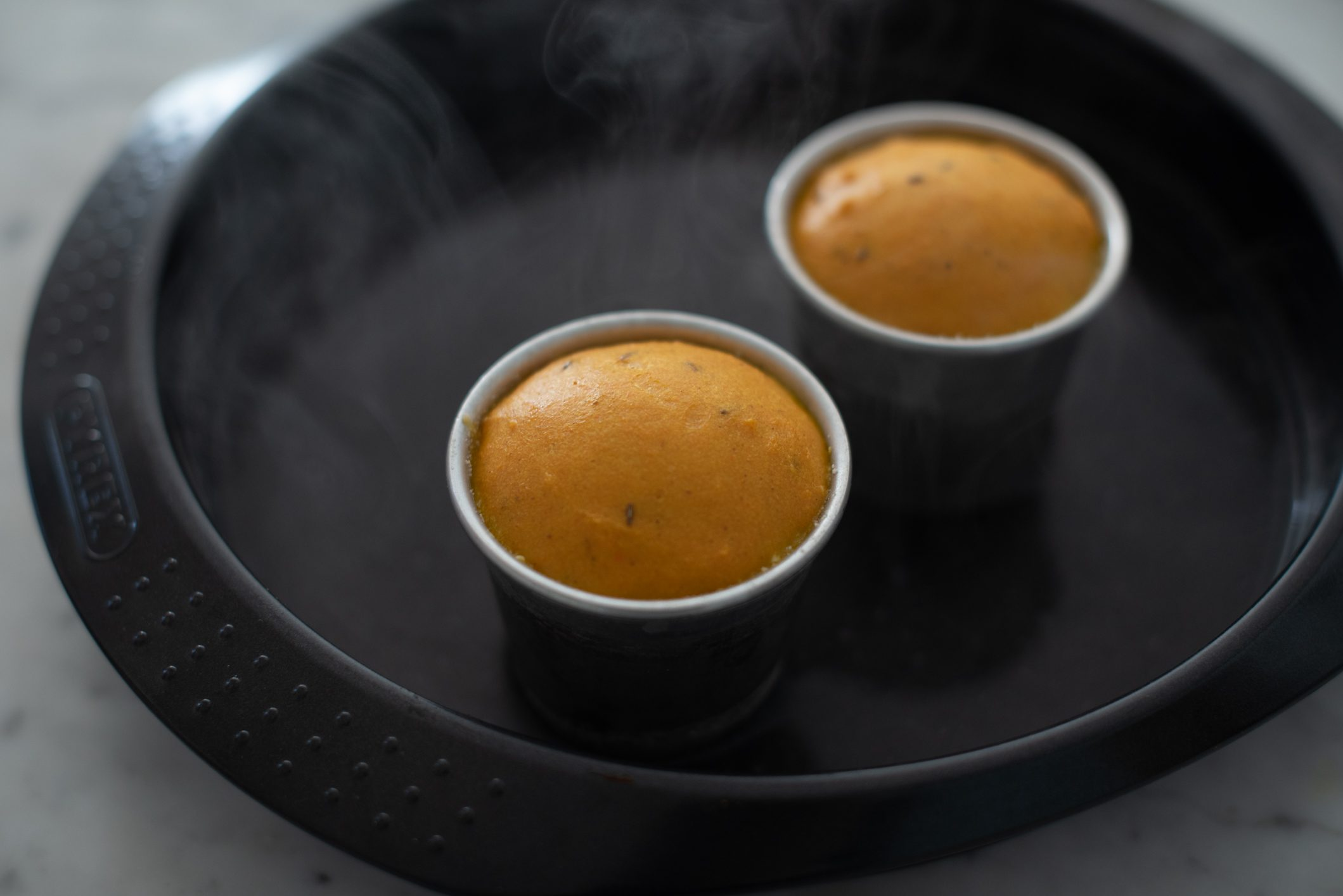 Sformato di carote con salsa al prezzemolo