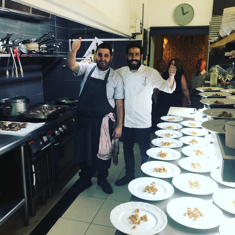 Lo chef Giovanni Pireddu del ristorante Tentazioni di Bordeaux