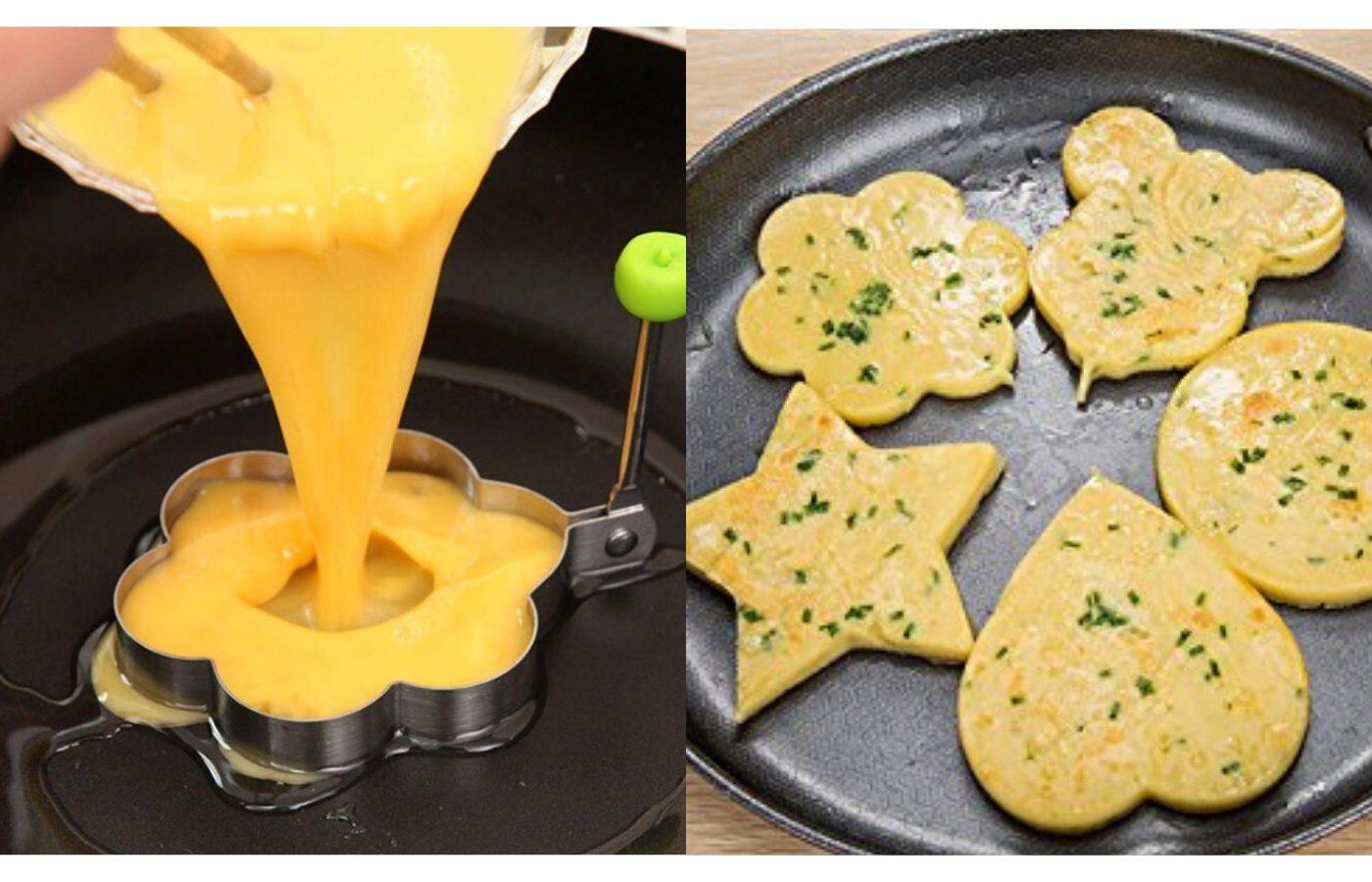 Formine per uova e pancake: mangiarli non è mai stato così divertente