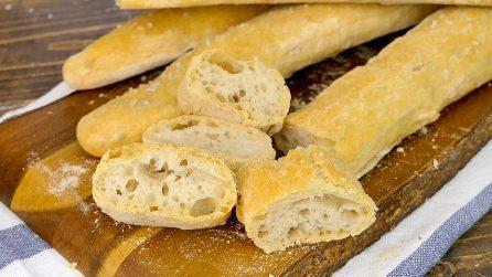 Stecche di Jim: la ricetta del pane senza impasto facile e croccante