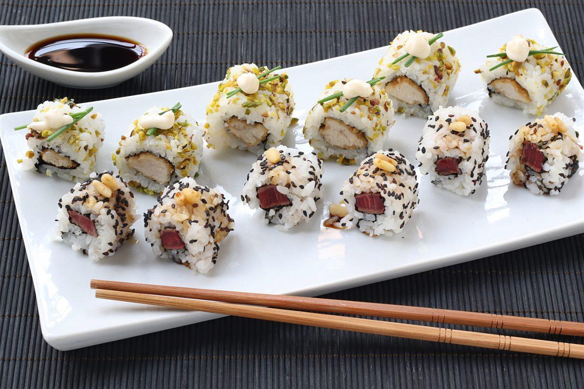 Decorare il sushi