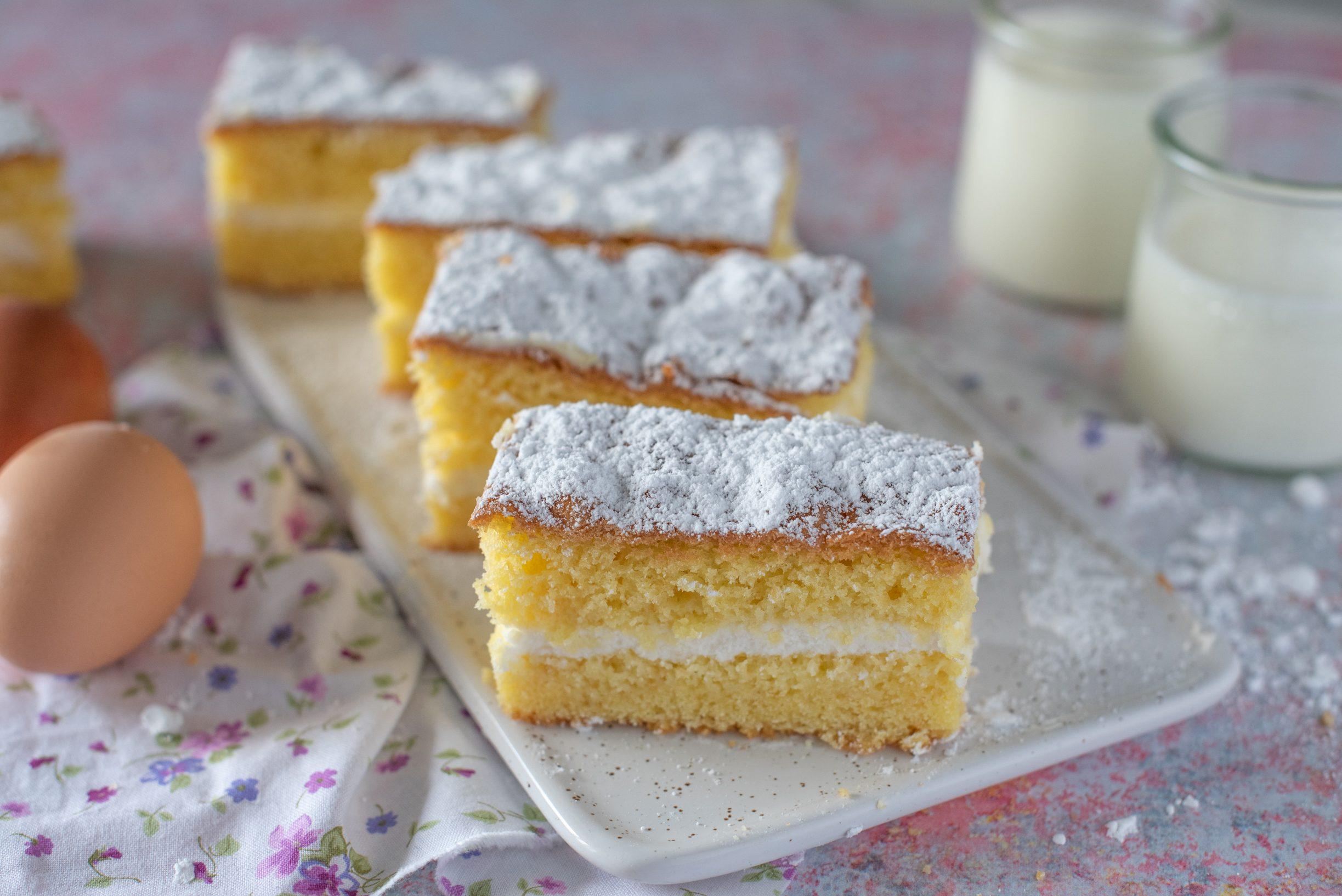 Barrette di torta paradiso: la ricetta del dolce dal gusto celestiale