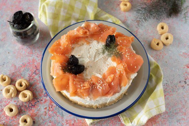 cheesecake salata al salmone