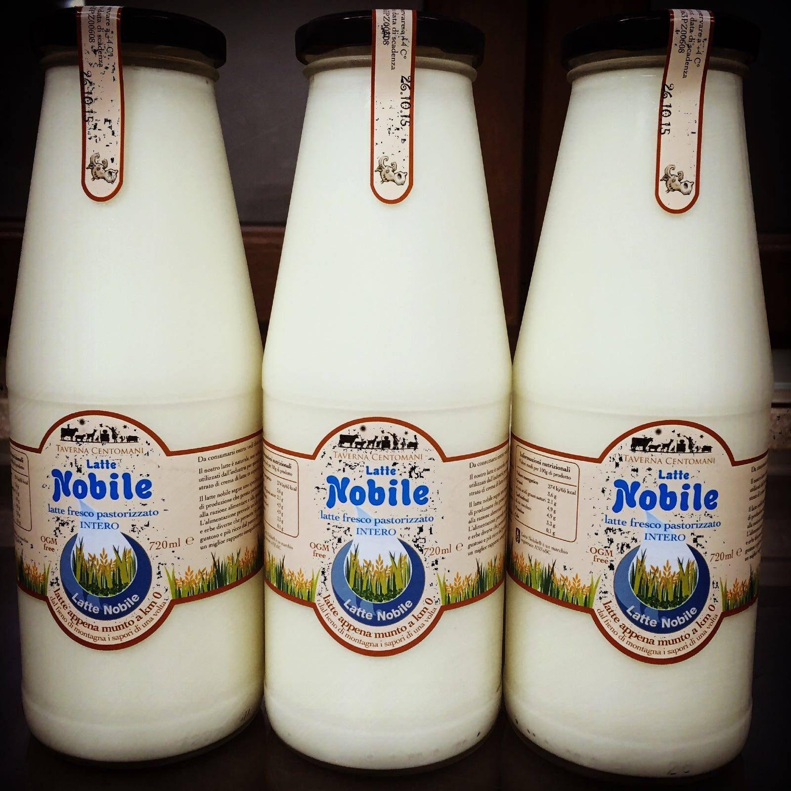 Esempio di bottiglia di Latte Nobile