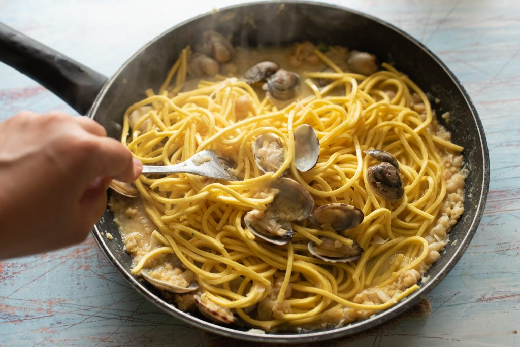 Spaghetti vongole e ceci