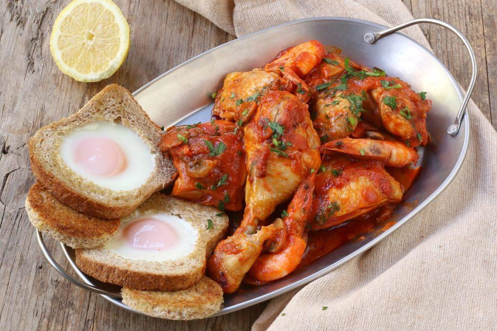 servire il pollo alla marengo
