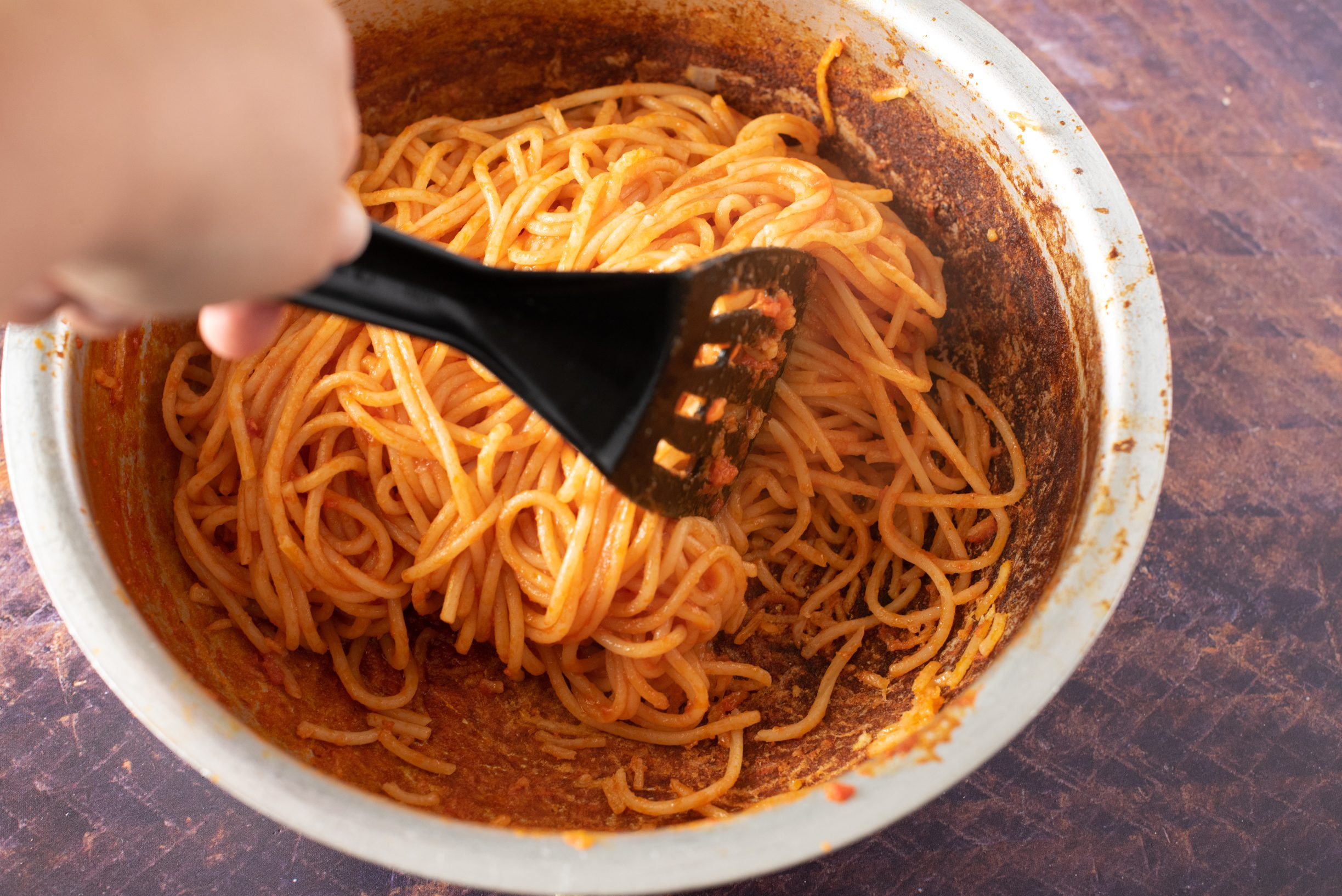 Spaghetti all'assassina, mescolate
