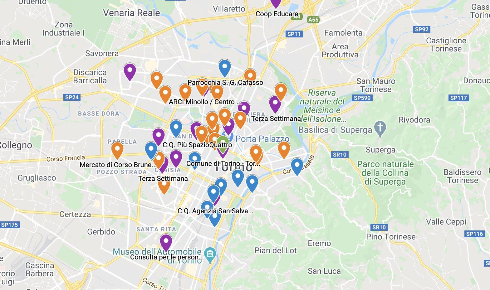 Le mappe di tre grandi città italiane diventano solidali e combattono lo spreco alimentare