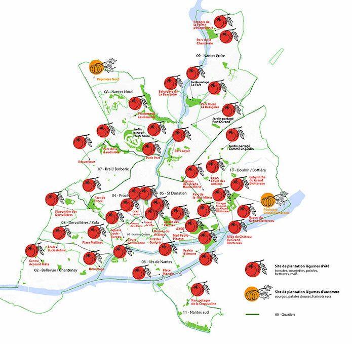 La città di Nantes trasforma i giardini in 50 orti solidali per sfamare chi ha bisogno