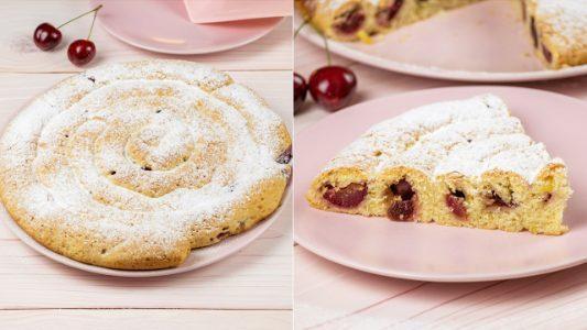Girella di pasta frolla e ciliegie: la ricetta del dolce arrotolato facile e sfizioso