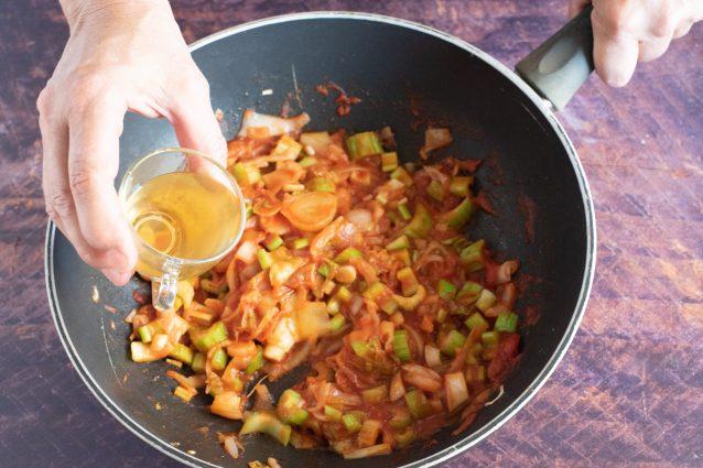 mozzarella ripiena di caponata