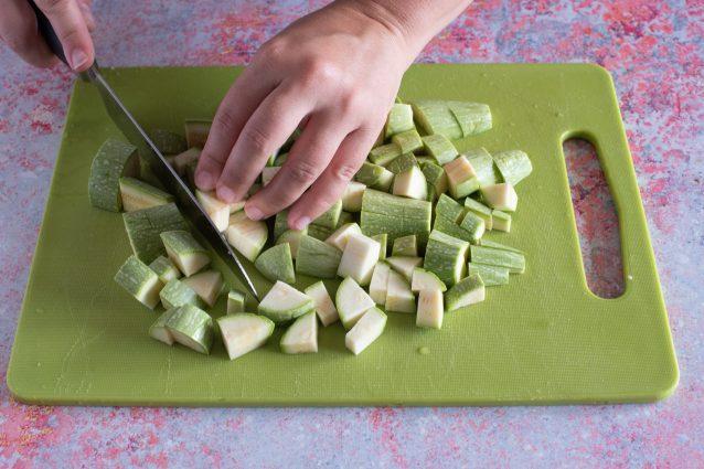 bocconcini di tacchino zucchine e uvetta