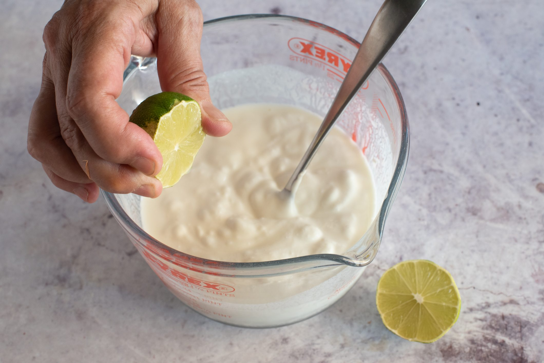 gelato yogurt e lime