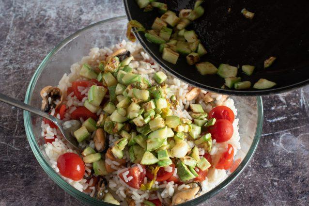 insalata di riso e cozze
