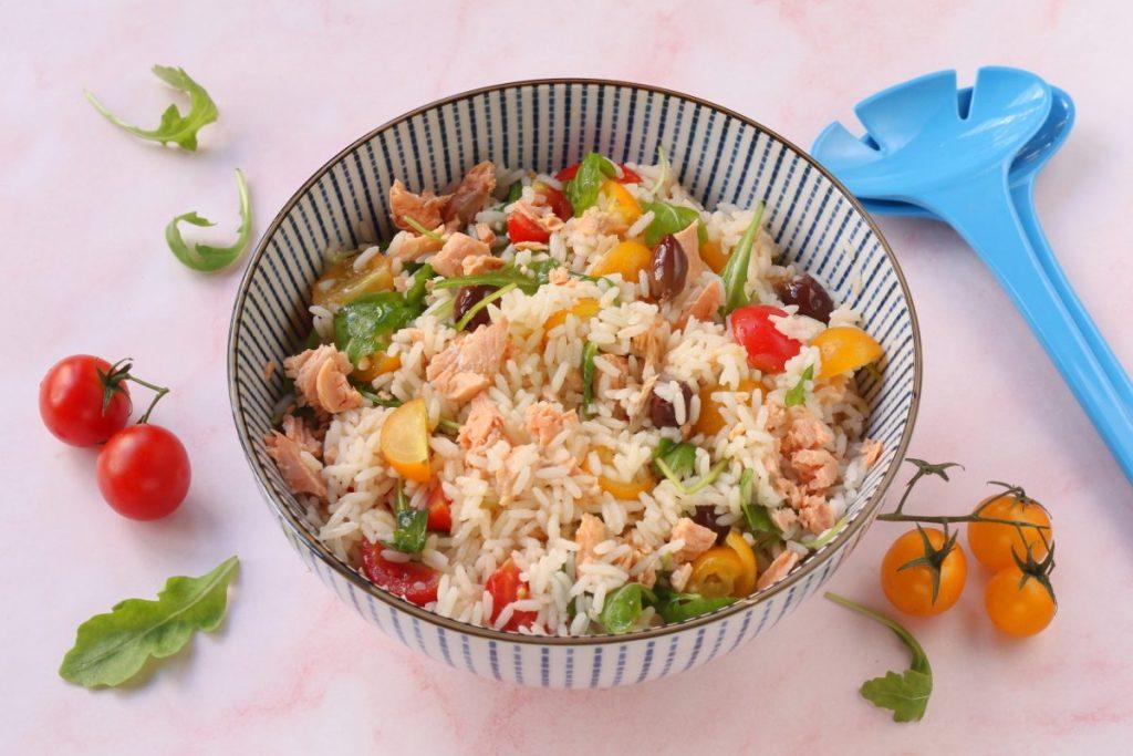 servire l'insalata di riso