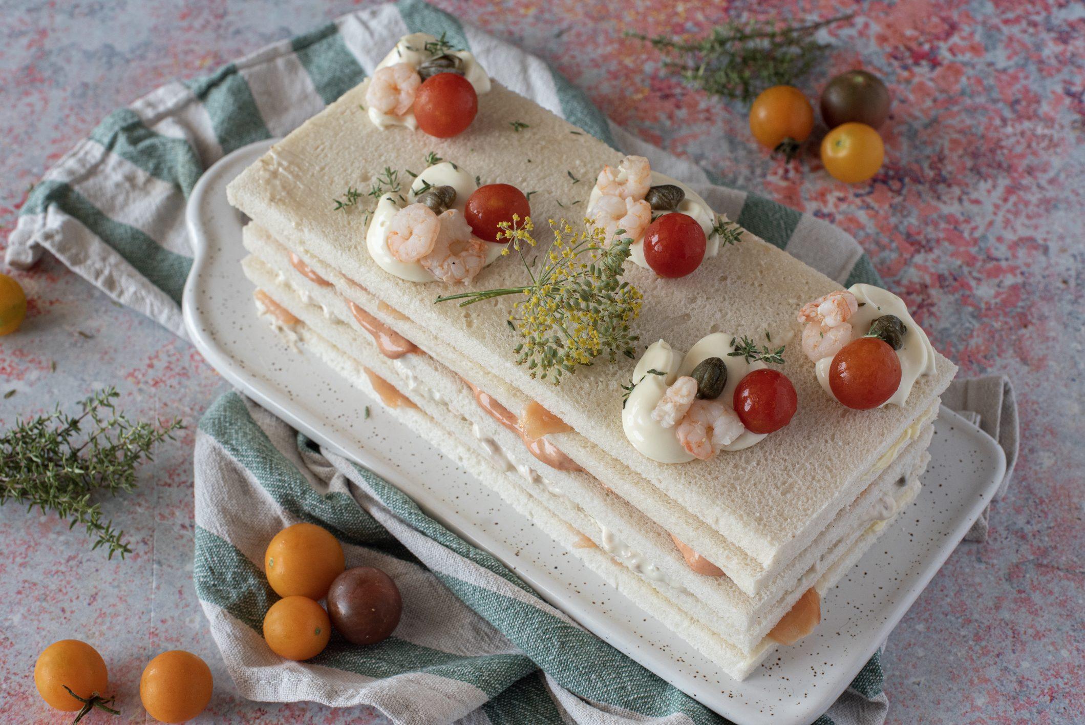 Sandwich cake: la ricetta della torta tramezzino, antipasto semplice ma di grande effetto