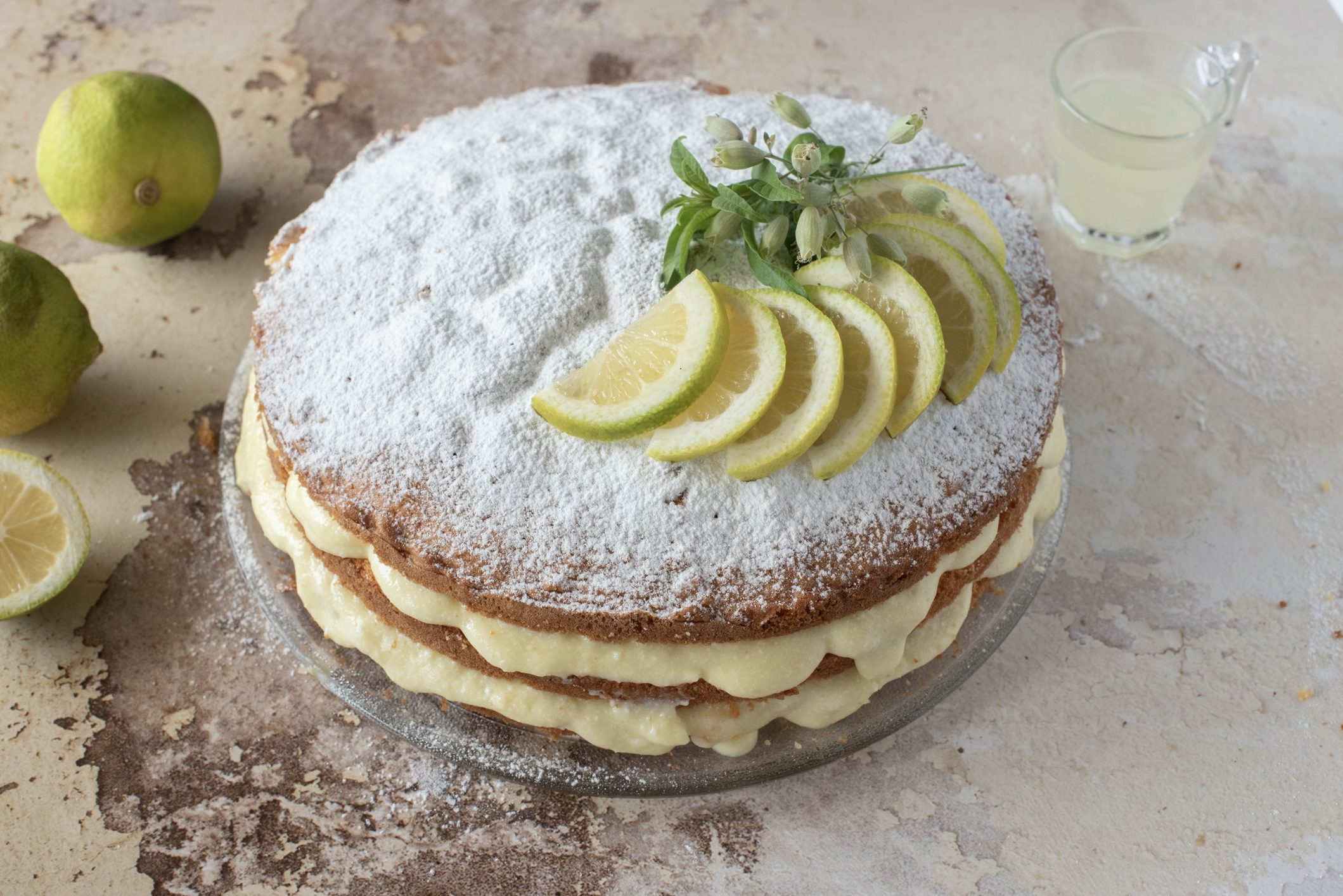 Torta limone e limoncello