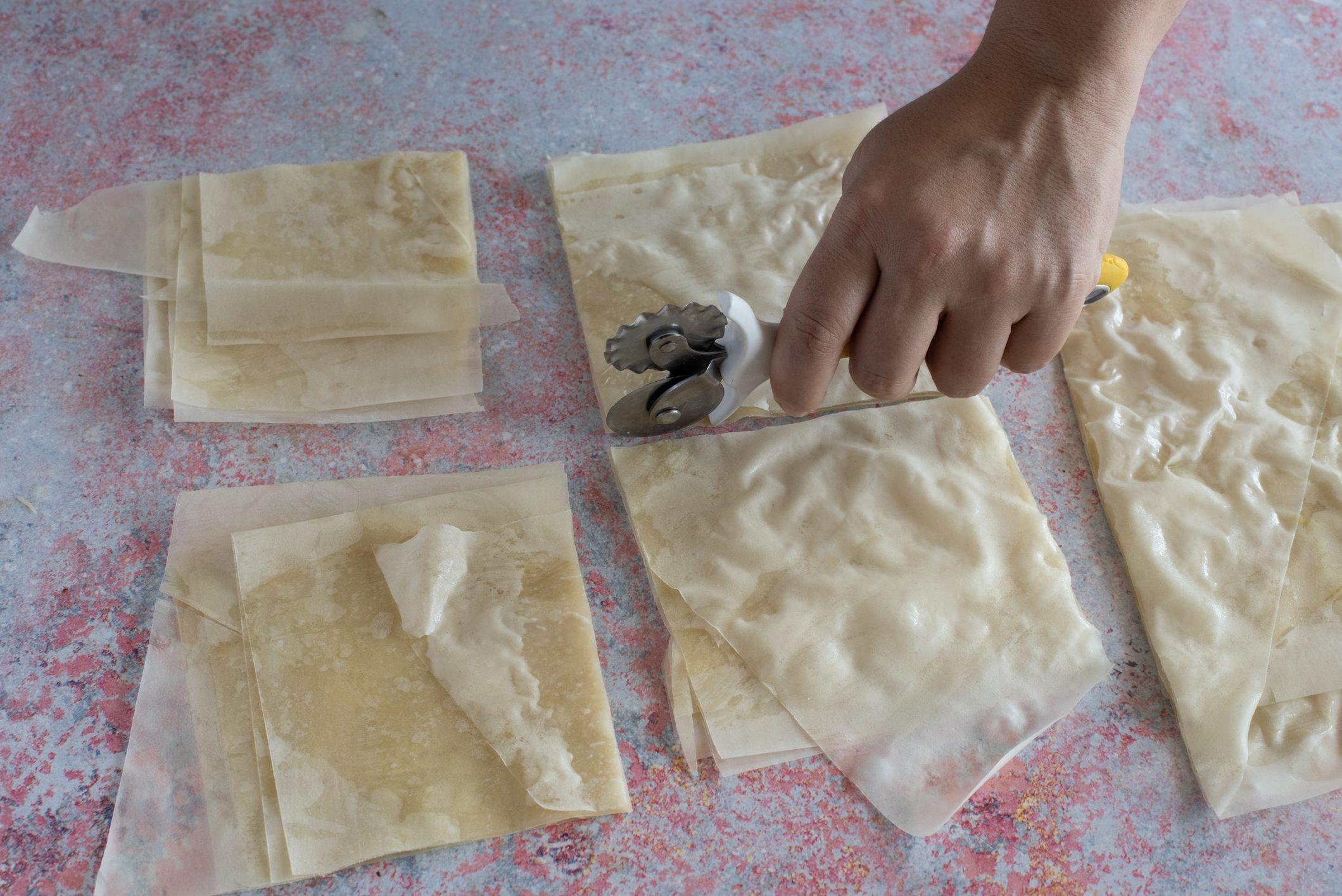 cestini croccanti con mousse di mortadella