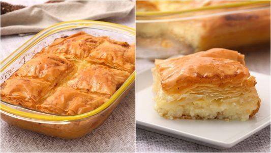 Galaktoboureko: la ricetta del dolce greco con pasta fillo e crema di semolino