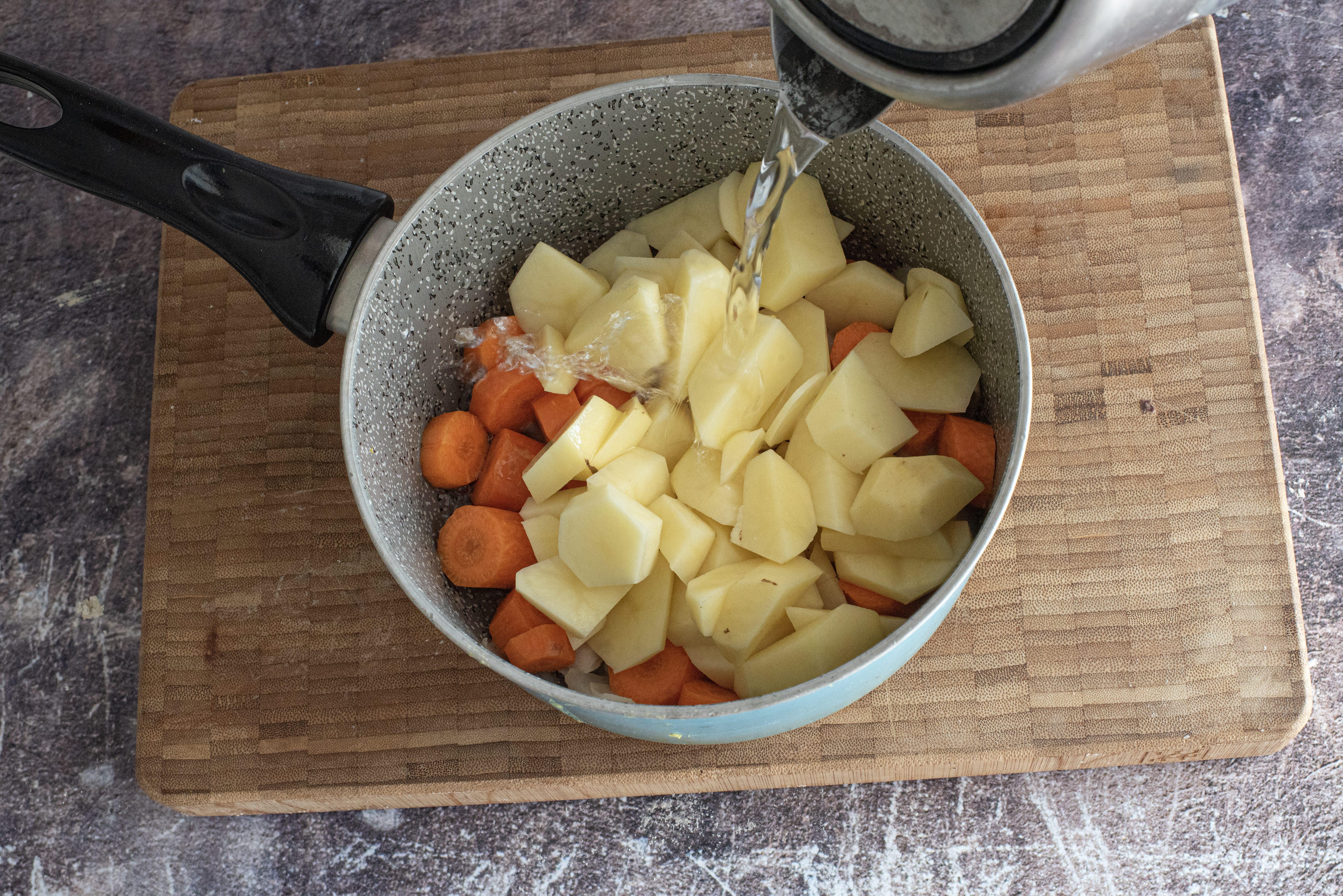 Purè di patate e carote_