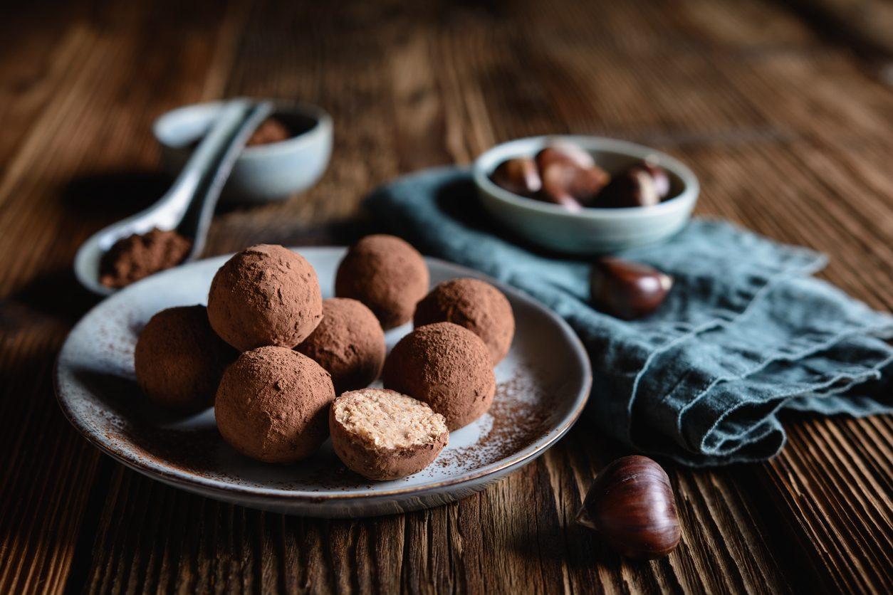 Tartufi di castagne: la ricetta dei dolcetti autunnali semplici e deliziosi