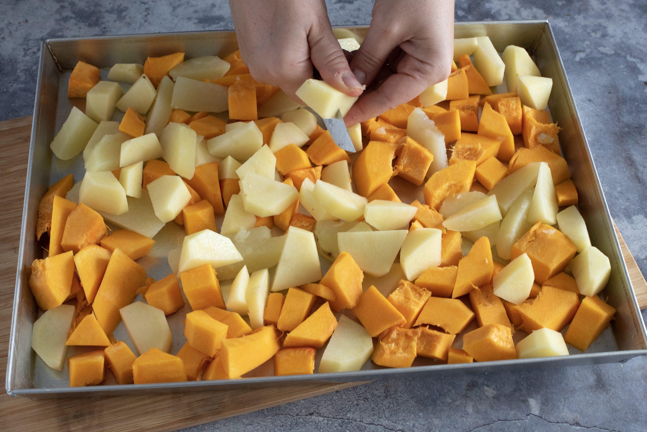 patate e zucca gratinate