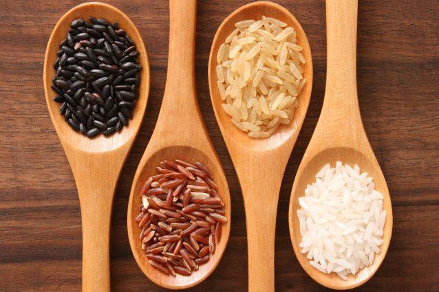 varietà di riso per piatti etnici