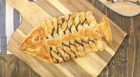 Pesce di pasta sfoglia e cioccolato: la ricetta del dolce semplice e scenografico